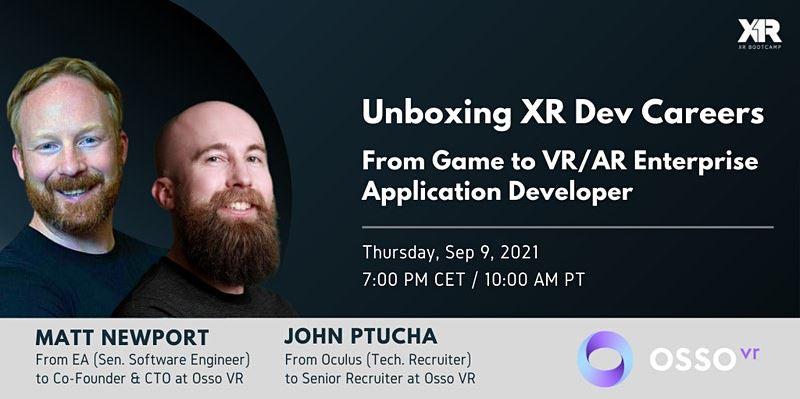 Unboxing XR Dev Careers: From Game to VR/AR Enterprise App Developer